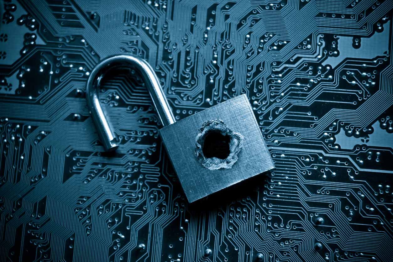 Padlock to show a data breach
